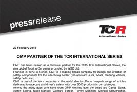 OMP PARTNER OF THE TCR INTERNATIONAL SERIES