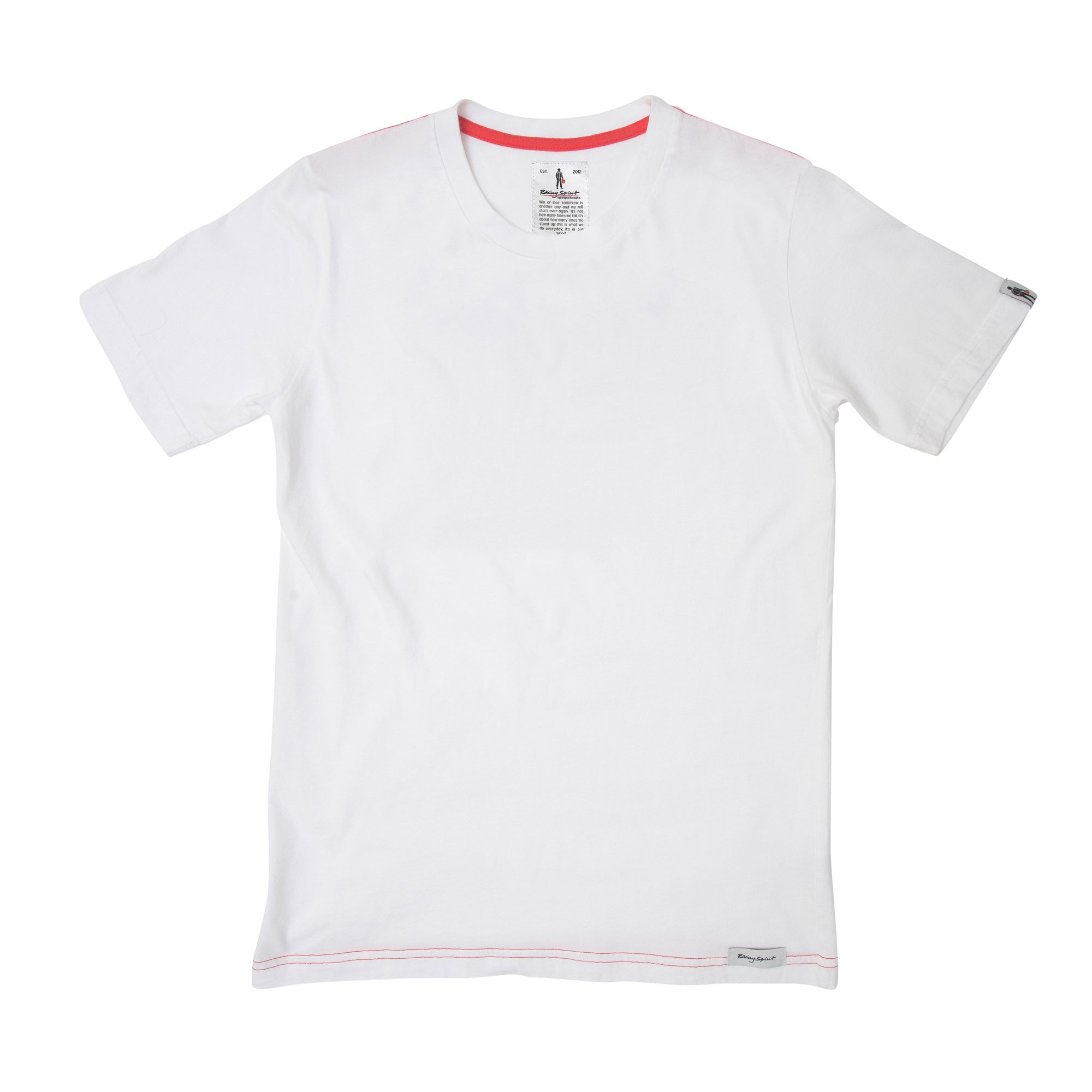 ESSENTIAL WHITE TEE - Racing tee - white