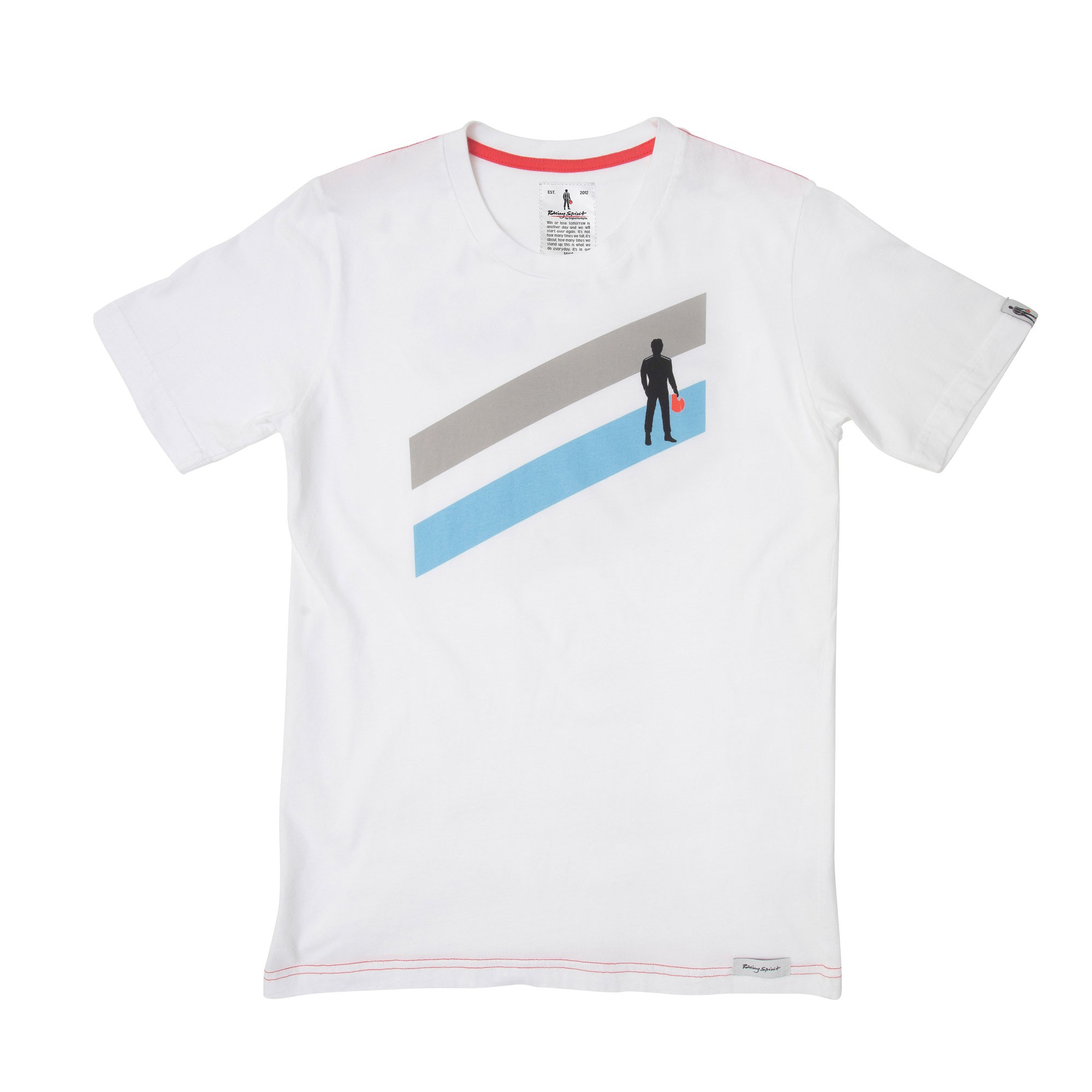 STRIPES TWO TEE - Racing tee - white