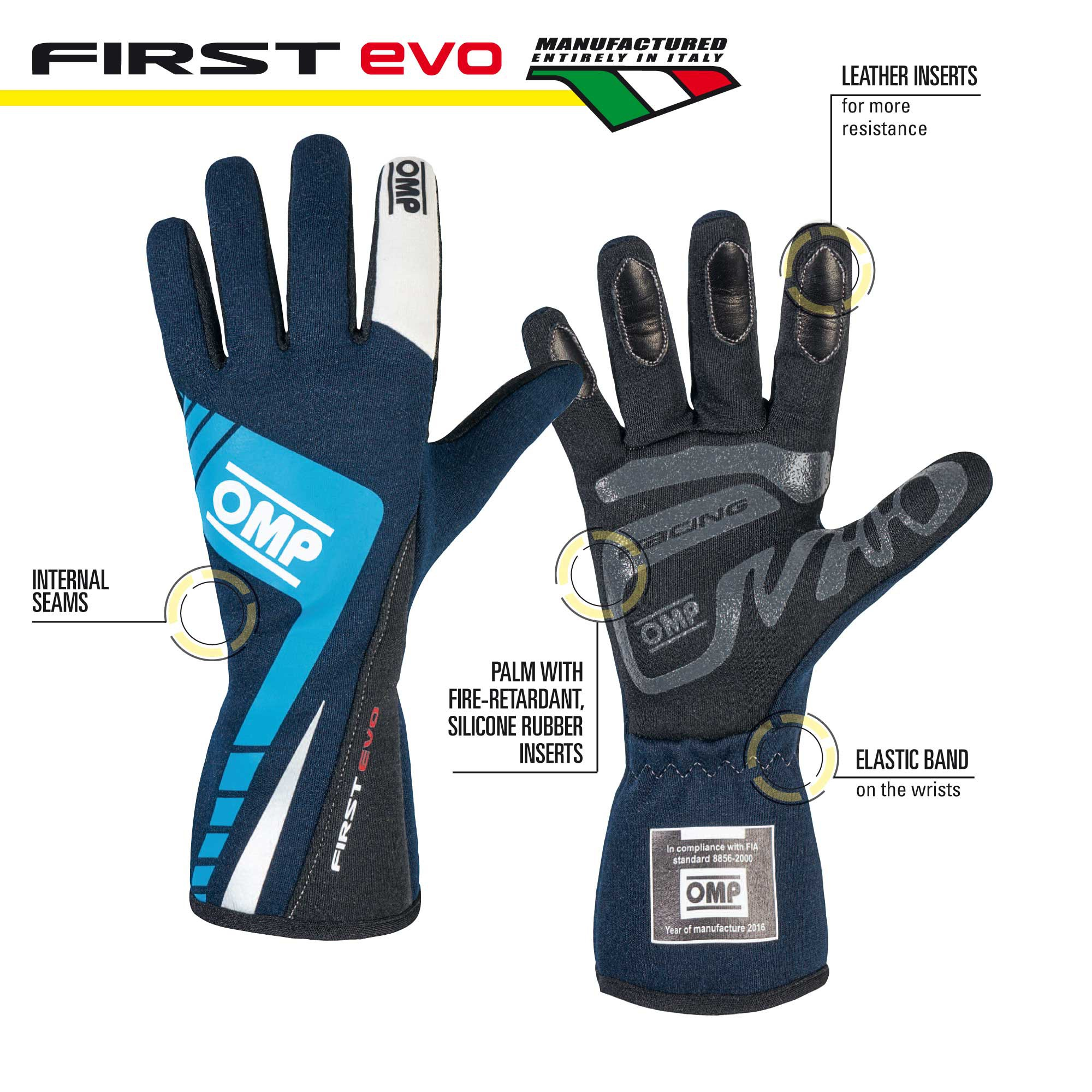 Racing gloves - FIRST EVO GLOVES MY 2016