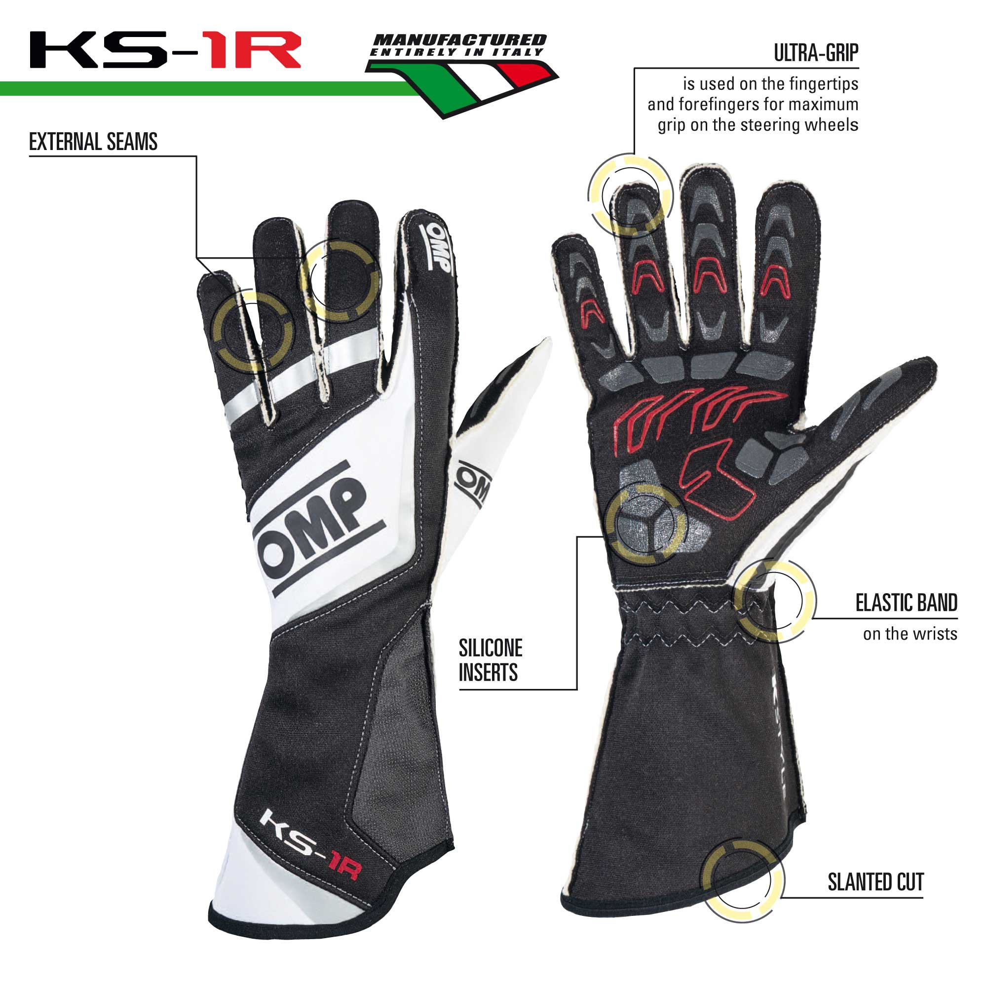 Top karting gloves - KS-1R GLOVES
