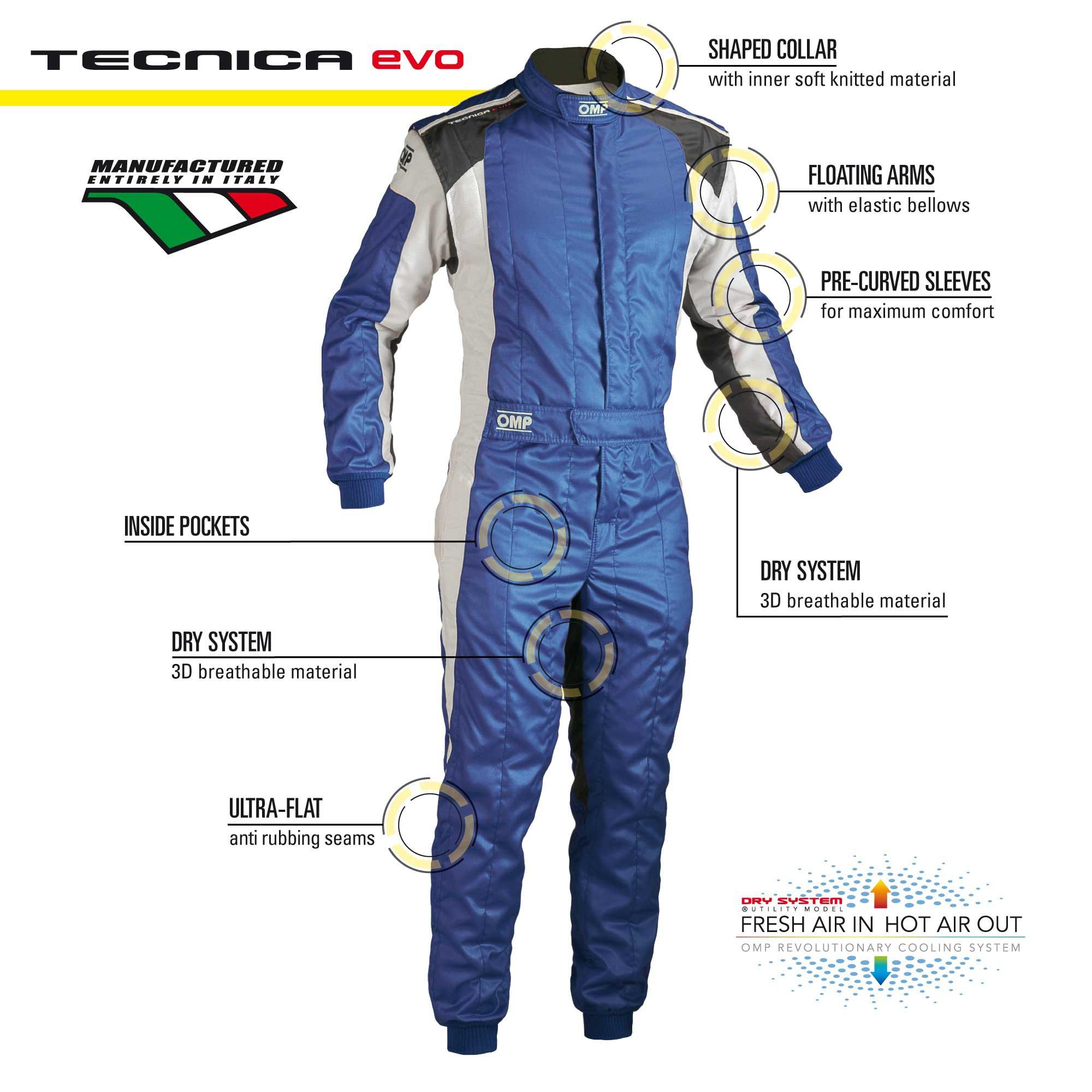 Tecnica Evo Suit Racing Suits Omp Racing